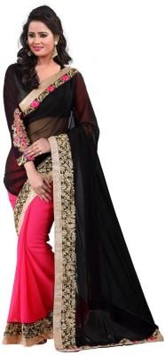Shraddha Fashion Embriodered Bollywood Pure Georgette Sari
