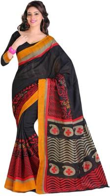 Ethnic Andaaz Paisley, Floral Print Fashion Art Silk, Cotton Sari