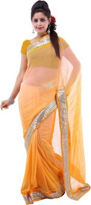Lado Fashion Square Embellished Fashion Georgette Sari