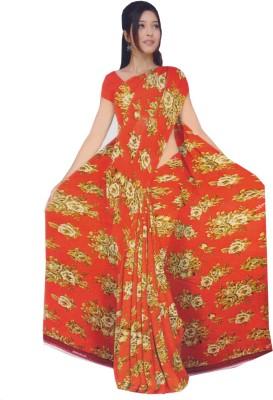 Ak designs Floral Print Fashion Cotton Sari
