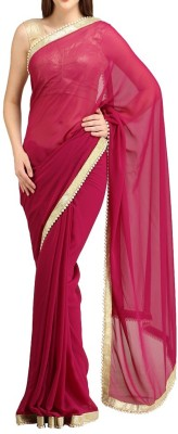 Silons Designer Self Design Bollywood Synthetic Georgette Sari