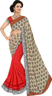 Shivam Textiles Floral Print Fashion Chiffon, Lace Sari