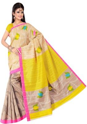 Manbhavan Print Printed Bhagalpuri Art Silk Sari