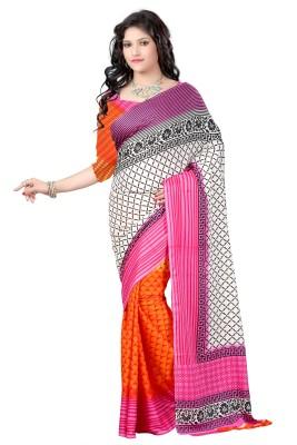 Wholetex Printed Fashion Crepe Sari