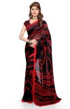 Luxuria Printed Daily Wear Georgette Sar...