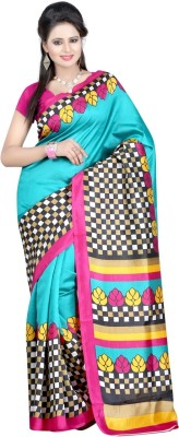 Fashion Fiasta Geometric Print Bhagalpuri Art Silk Sari