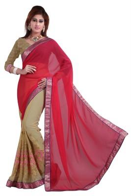 Jagdamba Creation Embriodered Bollywood Chiffon Sari