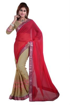 Gunjan Creation Embriodered Fashion Pure Chiffon Sari