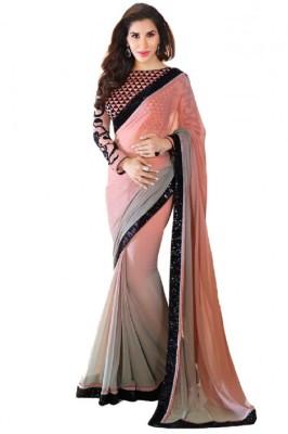 Surati Self Design Bollywood Pure Georgette Sari