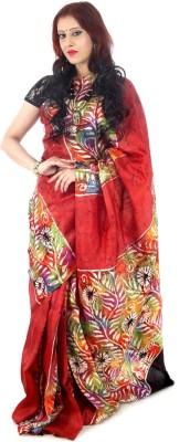 Fashion Mix Hand Painted Murshidabad Pure Silk Sari
