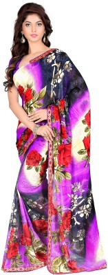 subham sarees Printed Daily Wear Georgette Sari