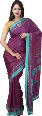 Tusk Floral Print Fashion Chiffon Sari
