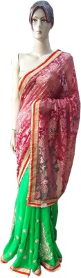 RAJASTHANI BANDEJ Embriodered Daily Wear Synthetic Sari