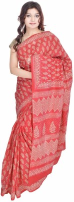 Geroo Floral Print Fashion Cotton Sari