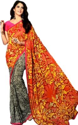 Ganghs Floral Print Fashion Georgette Sari
