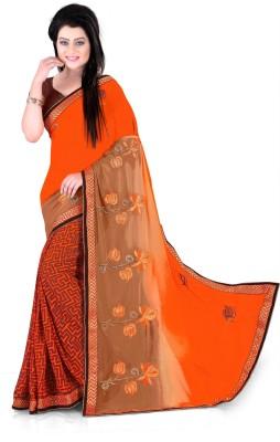 Sonia fashion Self Design Fashion Georgette Sari