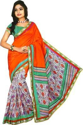 Swaman Printed Bhagalpuri Polycotton Sari