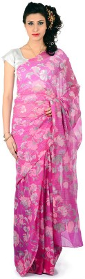 Bazzzar Floral Print Bollywood Georgette Sari