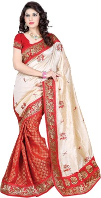 JK Creation Embriodered Fashion Art Silk Sari