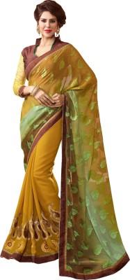 Jiya Self Design, Embriodered, Embellished Fashion Georgette, Jacquard Sari