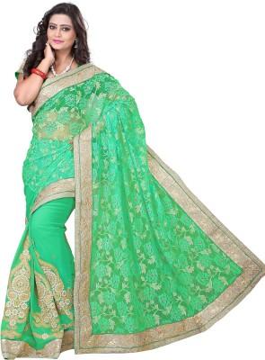 Anu Creation Embriodered Bollywood Georgette Sari