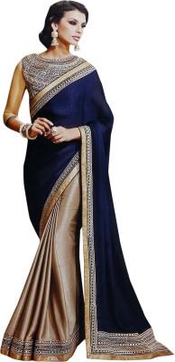 MahekImpex Embriodered Fashion Georgette Sari