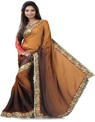 STYLO SAREES Embriodered Fashion Satin Sari