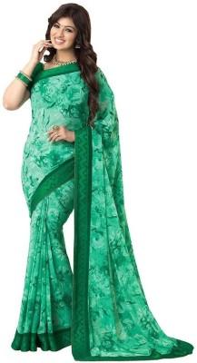 Divazz Floral Print Fashion Georgette Sari