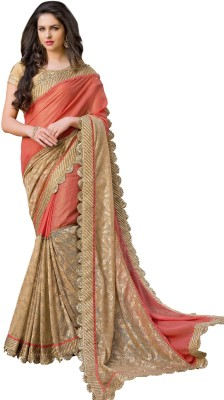 Jasleen Fashion Embellished, Embriodered Fashion Crepe, Net, Lace, Brocade, Art Silk Sari