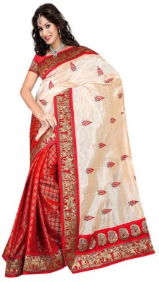 Nena Fashion Self Design Banarasi Handloom Raw Silk Sari