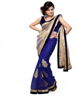 Thelibazz Embriodered Bollywood Georgette Sari