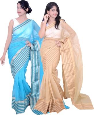 Banarasi Silk Works Embriodered Banarasi Net Sari