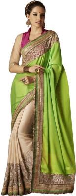 ambey shree trendz Polka Print Bollywood Handloom Synthetic Sari