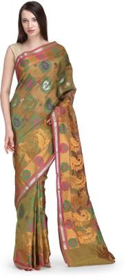 Shad Banarsi Woven Banarasi Banarasi Silk Sari(Green)