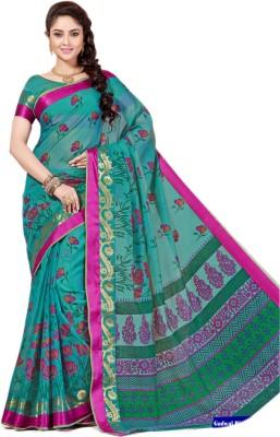 Aarti Apparels Printed Gadwal Cotton Sari