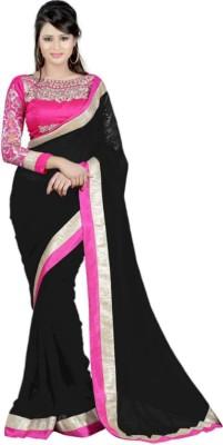 Dharmeshkumar Plain Fashion Lace Sari
