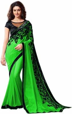 Kuvarba Fashion Embriodered Fashion Georgette Sari