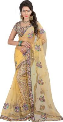 Jagdamba Creation Embriodered Bollywood Net Sari