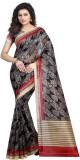 Zypara Floral Print Bhagalpuri Silk Sare...