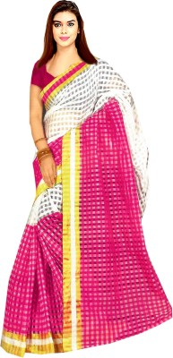 Tyra Sarees Woven Fashion Handloom Polycotton Sari