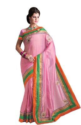 Kashish Lifestyle Solid Fashion Handloom Jute Sari