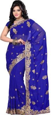 Deepika Couture Self Design Bollywood Georgette Sari