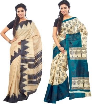 Aarohee Printed Bhagalpuri Silk Sari