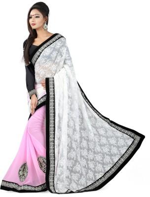 Snreks Collection Embriodered Fashion Net, Georgette Sari