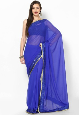 Manvar Enterprise Self Design Fashion Handloom Pure Georgette Sari