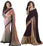 MA Solid Bollywood Pure Georgette Sari