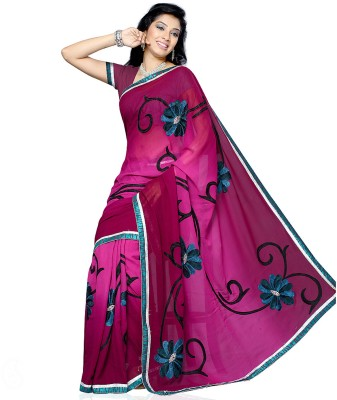 Aapno Rajasthan Floral Print Fashion Georgette Sari
