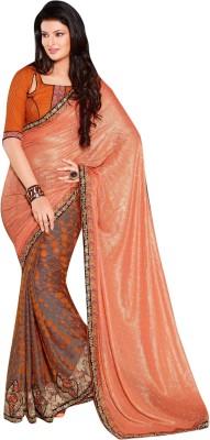 Lajo Printed Bollywood Shimmer Fabric, Jacquard Sari