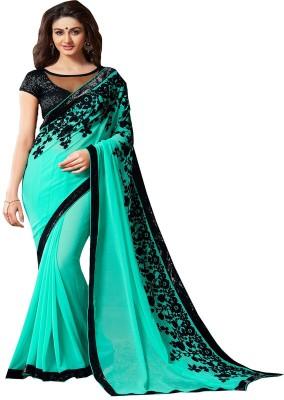 MatindraEnterprise Embriodered Bollywood Chiffon Sari