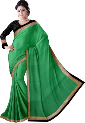 Komal Sarees Self Design Bollywood Chiffon, Georgette Sari